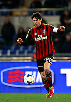 Calcio, Serie A: Lazio vs Milan. Roma, stadio Olimpico, 23 marzo 2014.<br /> AC Milan forward Ricardo Kaka', of Brazil, in action during the Italian Serie A football match between Lazio and AC Milan at Rome's Olympic stadium, 23 March 2014.<br /> UPDATE IMAGES PRESS/Isabella Bonotto