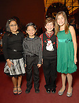 From left: Sarah Rodriguez,10, Julian Rodriguez,7, Shane Trevino,8, and Alyssa Trevino,11, at the opening night of The Nutcracker at the Wortham Theater Friday Nov. 27,2009. (Dave Rossman/For the Chronicle)