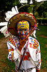 Mexico: Puerto Vallarta.  Man with Huichol mask,  Photo mxpuer101.  Photo copyright Lee Foster, www.fostertravel.com, 510/549-2202, lee@fostertravel.com