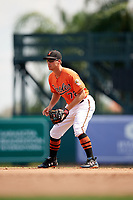 Baltimore Orioles Drew Dosch (72) during an Instructional League game against the Pittsburgh Pirates on September 27, 2017 at Ed Smith Stadium in Sarasota, Florida.  (Mike Janes/Four Seam Images)