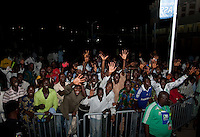 Nigeria fans. US Under-17 Men's National Team defeated United Arab Emirates 1-0 at Gateway International  Stadium in Ijebu-Ode, Nigeria on November 1, 2009.