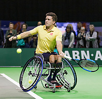 Rotterdam, The Netherlands, 14 Februari 2019, ABNAMRO World Tennis Tournament, Ahoy, first round wheelchair singles: Gordon Reid (GBR),<br /> Photo: www.tennisimages.com/Henk Koster