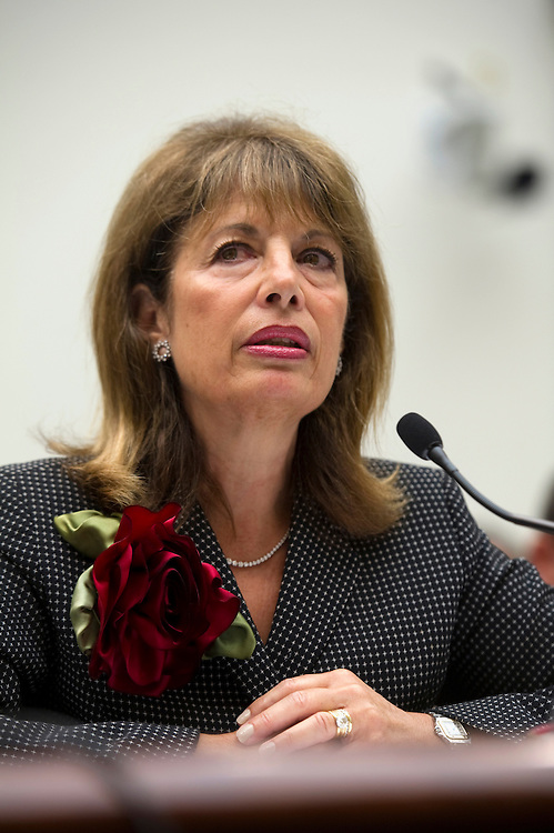"""UNITED STATES - JULY 24: Rep. Jackie Speier, D-Calif., testifies before a House Judiciary committee hearing on H.R.3179, the """"Marketplace Equity Act of 2011,"""" to improve the states' collection of sales tax over the internet. (Photo By Chris Maddaloni/CQ Roll Call)"""