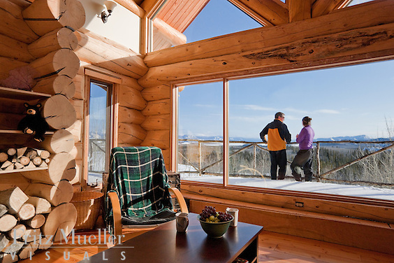 Winter retreat at Fox Creek Wilderness Bed and Breakfast near Lake Laberge, Whitehorse, Yukon