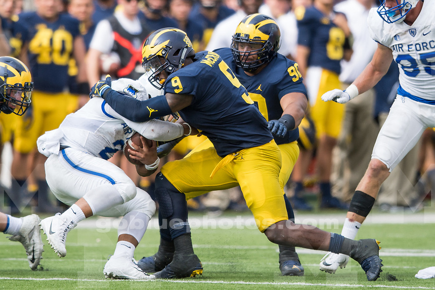 Michigan football defeats Air Force, 29-13, at Michigan Stadium on Saturday, September 16, 2017.