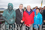 Pictured here with Mick O'Dwyer in Waterville on Saturday at the statue unveiling are Tom & Nula Keane from Cahersiveen.
