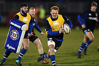 Miles Reid of Bath Rugby in action during the pre-match warm-up. Premiership Rugby Cup match, between Bath Rugby and Gloucester Rugby on February 3, 2019 at the Recreation Ground in Bath, England. Photo by: Patrick Khachfe / Onside Images