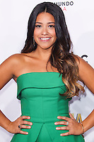 PASADENA, CA, USA - OCTOBER 10: Gina Rodriguez arrives at the 2014 NCLR ALMA Awards held at the Pasadena Civic Auditorium on October 10, 2014 in Pasadena, California, United States. (Photo by Celebrity Monitor)