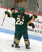Ali O'Leary (UVM - 14), Éve-Audrey Picard (UVM - 26) -  The Boston College Eagles defeated the University of Vermont Catamounts 4-3 in double overtime in their Hockey East semi-final on Saturday, March 4, 2017, at Walter Brown Arena in Boston, Massachusetts.