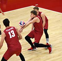 STANFORD, CA; December 30, 2017; Men's Volleyball, Stanford vs Calgary..
