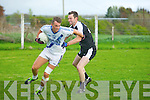 Pauly O'Donoghue (St Marys) in action with Darren Dineen (Ardfert) County Intermediate Football Championship round 1 at Ardfert on Saturdayn evening.