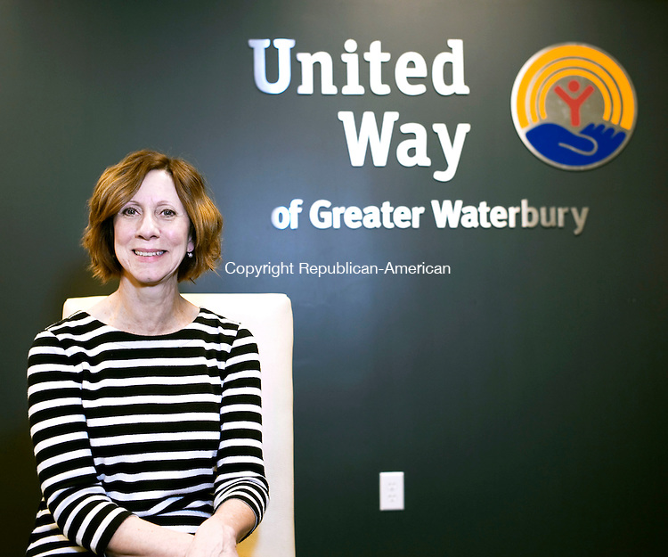 Waterbury, CT- 22 December 2015-122215CM08- JoAnn Reynolds-Balanda, vice president of community impact at the United Way of Greater Waterbury is photographed in their office in Waterbury on Tuesday.  Christopher Massa Republican-American
