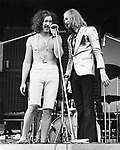 Bonzo Dog Doo Dah Band 1969 Legs Larry Smith and Vivian Stanshall.© Chris Walter.