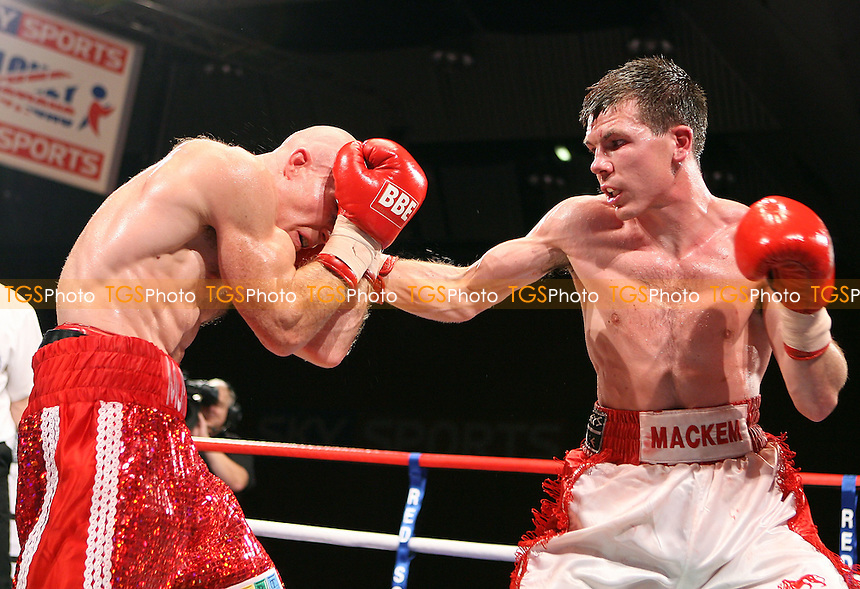 Paul Holborn (white shorts) draws with Ben Murphy in a Lightweight Boxing contest at the Seaburn Centre, Sunderland, promoted by Frank Maloney - 17/10/09 - MANDATORY CREDIT: Chris Royle/TGSPHOTO - Self billing applies where appropriate - Tel: 0845 094 6026.