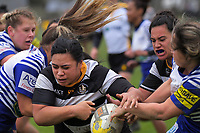 Action from the Wellington Rugby premier women's rugby match between Oriental-Rongotai and Northern United at Polo Ground in Wellington, New Zealand on Friday, 15 June 2019. Photo: Dave Lintott / lintottphoto.co.nz