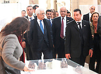 NAPOLI CONFERIMENTO DELLA CITTADINANZA ONORARIA AL PRESIDENTE DELL'AUTORITA PALESTINESE.NELLA FOTO ABU MAZEN NELLA CAPELLA  PALATINA.FOTO CIRO DE LUCA Palestinian Authority President, Mahmoud Abbas  awarded honorary citizenship by Mayor of Naples, Luigi de Magistris  , during a ceremony in Naples