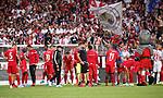 18.08.2019, Stadion an der Wuhlheide, Berlin, GER, 1.FBL, 1.FC UNION BERLIN  VS. RB Leibzig, <br /> DFL  regulations prohibit any use of photographs as image sequences and/or quasi-video<br /> im Bild Union Spieler, Cheftrainer (Head Coach) Urs Fischer(1.FC Union Berlin)<br /> <br />      <br /> Foto © nordphoto / Engler