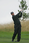 Thomas Bjorn on the first hole in Friday Fourball's at the Seve Trophy on the 28th of September 2007 at the The Heritage Golf & Spa Resort, Killenard, Co Laois, Ireland. (Photo by Manus O'Reilly/NEWSFILE)