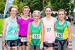 Karen Murphy Gneeveguilla, Janet Slye An Riocht, Liz Heaslip, Sharon Cahill and Shoma Heaslip all An Riocht who competed at the Killarney Women's mini marathon on Saturday