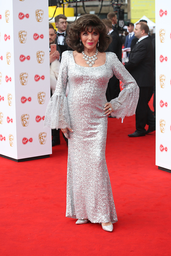 Joan Collins<br />  arriving at the Bafta Tv awards 2017. Royal Festival Hall,London  <br /> ©Ash Knotek