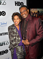 LOS ANGELES, CA- FEB. 08: Marla Gibbs, Keith David at the 2018 Pan African Film & Arts Festival at the Cinemark Baldwin Hills 15 in Los Angeles, California on Feburary 8, 2018 Credit: Koi Sojer/ Snap'N U Photos / Media Punch
