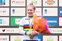 Picture by Alex Whitehead/SWpix.com - 03/02/2018 - Cycling - 2018 UCI Cyclo-Cross World Championships - Valkenburg, The Netherlands - Great Britain's Evie Richards wins Gold in the Women's U23 race.