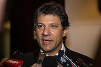 SAO PAULO, SP, 11 DE MARCO 2013 - HADDAD - EXPO 2020 - O prefeito de São Paulo, Fernando Haddad (PT), concede entrevista durante evento na Federação das Indústrias do Estado de São Paulo (Fiesp), na Avenida Paulista, para apresentação da cidade aos representantes da Expo 2020, nesta segunda-feira. FOTO: VANESSA CARVALHO - BRAZIL PHOTO PRESS.