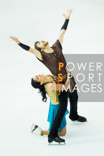TAIPEI, TAIWAN - JANUARY 23:  Lynn Kriengkrairut and Logan Giulietti-Schmitt of USA perform their routine at the Ice Dance Free Dance event at the Ice Dance Free Dance event during the Four Continents Figure Skating Championships on January 23, 2014 in Taipei, Taiwan.  Photo by Victor Fraile / Power Sport Images *** Local Caption *** Lynn Kriengkrairut; Logan Giulietti-Schmitt