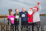 Enjoying the Santa 5km run in memory of Fiona Moore in aid of Heart Children Ireland at the Tralee Wetlands were Sheila Duggan, Louise Devine, Murt Murphy, Annette O'Donnell and Cathy Duggan