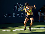 August 4, 2019: Saisai Zheng (CHN) in action where she defeated Aryna Sabalenka (BLR) 6-3, 7-6 in the finals of the Mubadala Silicon Valley Classic at San Jose State in San Jose, California. ©Mal Taam/TennisClix/CSM
