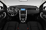 Stock photo of straight dashboard view of 2016 Land Rover Discovery Sport HSE Luxury 5 Door Suv Dashboard