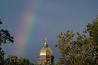 August 20, 2016; Rainbow next to the Golden Dome (Photo by Matt Cashore/University of Notre Dame)