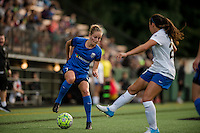 Seattle, Washington - Saturday, July 2nd, 2016: Seattle Reign FC defender Elli Reed (7) looks for a pass during a regular season National Women's Soccer League (NWSL) match between the Seattle Reign FC and the Boston Breakers at Memorial Stadium. Seattle won 2-0.