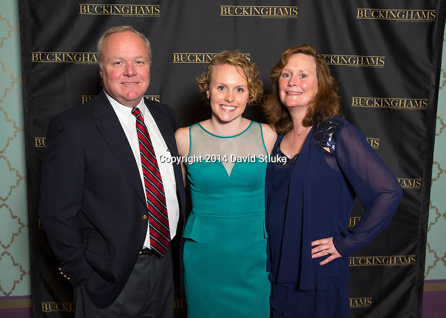 Wisconsin Badgers Buckinghams Awards Show Monday, April 14, 2014, in Madison, Wis. (Photo by David Stluka)