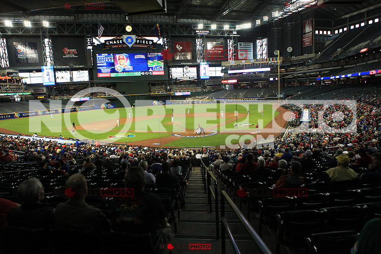 Estadio donde esta tarde juega Mexico vs USA... 2013 World Baseball Classic, Estadio Chase Field en Phoenix, Arizona  ,8 de marzo 2013...photo© Baldemar de los Llanos