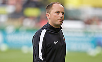 Portland, Oregon - Wednesday June 22, 2016: Portland Thorns head coach Mark Parsons during a regular season National Women's Soccer League (NWSL) match at Providence Park.
