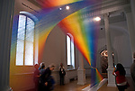 """Wonder"" is the inaugural exhibition at the Renwick Gallery in Washington D.C.- Rainbow Strands of polyester sewing thread created by Gabriel Dawe."