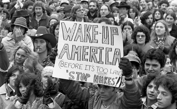 Anti nuclear demonstration in Boston MA 3.29.79 the day after the Three Mile Island accident and partial meltdown near Harrisburg PA