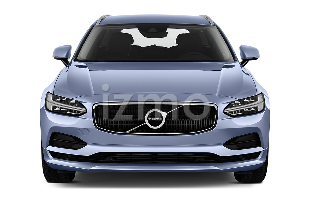 Car photography straight front view of a 2019 Volvo V90 Momentum 5 Door Wagon