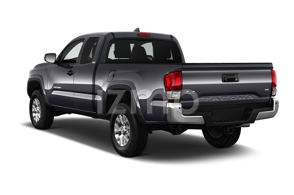 Car pictures of rear three quarter view of a 2016 Toyota Tacoma SR5 Access Cab 4 Door Pick Up angular rear