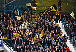 Stockholm 2013-12-07 Ishockey Elitserien AIK - Skellefte&aring; AIK :  <br /> Skellefte&aring; AIK SAIK supportar p&aring; en l&auml;ktarsektion i Hovet<br /> (Foto: Kenta J&ouml;nsson) Nyckelord:  AIK Skellefte&aring; SAIK supporter fans publik supporters jubel gl&auml;dje lycka glad happy