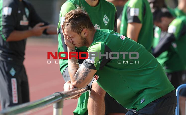 27.08.2013, Platz 11, Bremen, GER, 1.FBL, Laktattest Werder Bremen, im Bild Marko Arnautovic (Bremen #7)<br /> <br /> Foto &copy; nph / Frisch