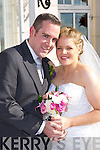 Orla Keane, Cullen daughter of Con and Theresa, and Marc McGinley, Hertfordshire, England son of Bernard and Beverly, who were married in St Finbarrs Oratory, Gouganbarra, on Friday, Fr John O'Donovan officiated at the ceremony, best man was Andrew Jones, groomsman was Johnny Ord, bridesmaids were Evelyn Keane, and Grace O'Neill, flowergirls were Ava and Fiadh Di Rollo, page boy was Rino Di Rollo, the reception was held in the Dromhall Hotel and the couple will reside in St Johns, Newfounland, Canada