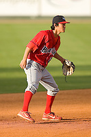 Shortstop Troy Hanzawa #2 of the Lakewood BlueClaws on defense versus the Kannapolis Intimidators at Fieldcrest Cannon Stadium May 16, 2009 in Kannapolis, North Carolina. (Photo by Brian Westerholt / Four Seam Images)