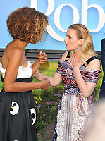 Sophie Okonedo and Hayley Atwell at the &quot;Christopher Robin&quot; European film premiere, BFI Southbank, Belvedere Road, London, England, UK, on Sunday 05 August 2018.<br /> CAP/CAN<br /> &copy;CAN/Capital Pictures