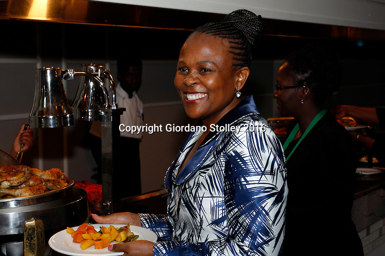DURBAN - 1 November 2016 - Advocate Busisiwe Mkhwebane, South Africa's newly appointed Public Protector, attends a dinner at the start of the 5th General Assembly of the Africa Ombudsman and Mediators Association. Mkhwebane was appointed Public Protector in October after the popular Advocate Thuli Madonsela completed her non-renewable 7-year term. Picture: Allied Picture Press/APP