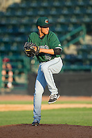 Augusta GreenJackets relief pitcher Luis Castillo (28) in action against the Hickory Crawdads at L.P. Frans Stadium on May 11, 2014 in Hickory, North Carolina.  The GreenJackets defeated the Crawdads 9-4.  (Brian Westerholt/Four Seam Images)