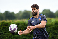 Guy Mercer of Bath Rugby passes the ball. Bath Rugby pre-season training session on July 28, 2017 at Farleigh House in Bath, England. Photo by: Patrick Khachfe / Onside Images