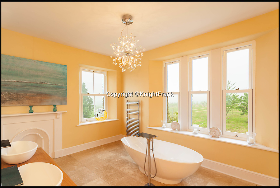 BNPS.co.uk (01202 558833)<br /> Pic: KnightFrank/BNPS<br /> <br /> One of the bathrooms.<br /> <br /> Wine lovers will want to snap up this beautiful property which comes with its own ready-made business - an award-winning vineyard.<br /> <br /> Southcote Farm, near Honiton in Devon, has an attractive farmhouse and a mixture of farmland as well as about 23 acres of vines in an area of outstanding natural beauty near the coast.<br /> <br /> Owners Nigel and Dawn Howard transformed the former stud farm to create the vineyeard from scratch, planting their first vines in 2010.<br /> <br /> The Southcote Vineyard plantings are 11,000 Bacchus, 6,000 Pinot Noir and 6,000 Seyval Blanc over 20 acres and the Watchcombe Vineyard is about three acres with 1,000 Pinot Noir and 2,000 Seyval Blanc.<br /> <br /> The 54-acre farm is on the market with Knight Frank for &pound;1.95million.