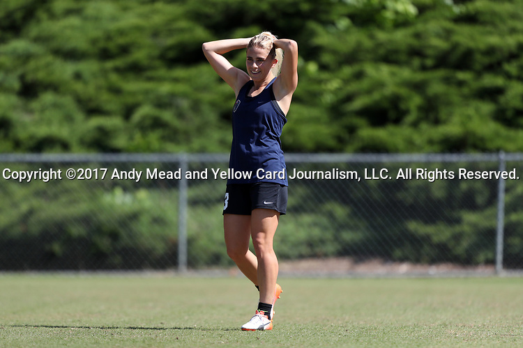 CARY, NC - MAY 04: Abby Dahlkemper. The North Carolina Courage held a training session on May 4, 2017, at WakeMed Soccer Park Field 6 in Cary, NC.
